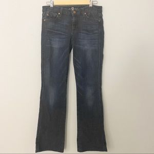 7 FOR ALL MANKIND A POCKET FLARE JEANS SZ 28